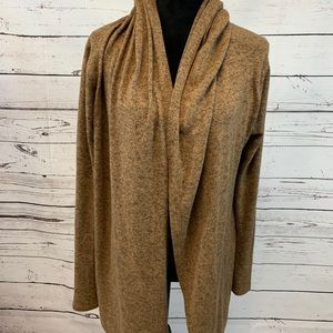 Silence + Noise Small Hooded Open Cardigan